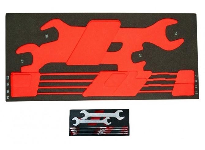MODULO EVA VACIO PARA 10 LLAVES FIJAS DE 2 BOCAS 6-32mm.