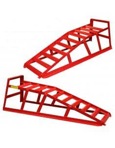 Par de rampas para coche elevadoras capacidad 2 toneladas portatiles