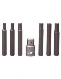 extra largas BGS 790-8 Llaves acodadas hex/ágono interior//hex/ágono interior con cabeza de bola 8 mm