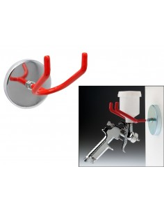 Gancho / soporte magnetico para pistolas de aire e impacto