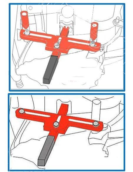 Herramienta para bloqueo del volante de motor / cigueñal para BMW y MINI